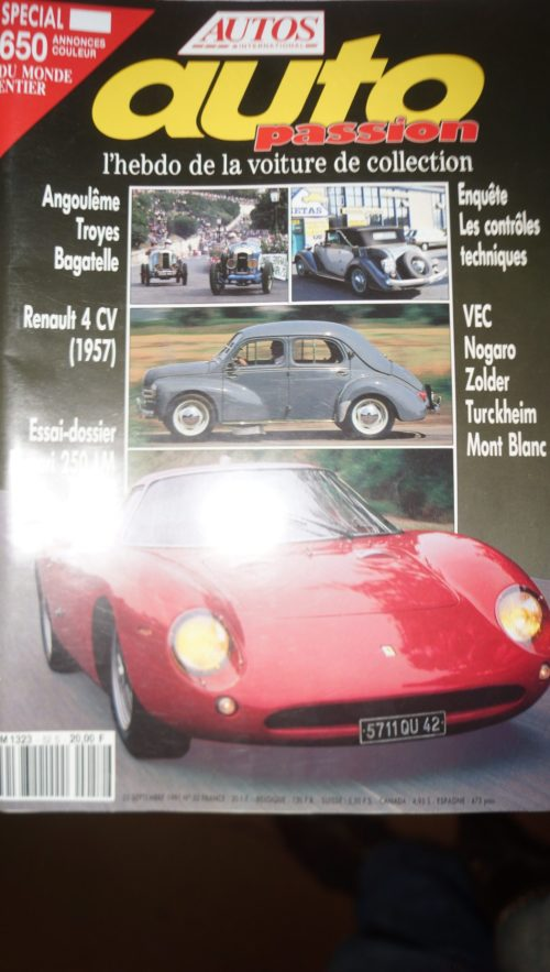 AUTO PASSION MAGAZINES collection
